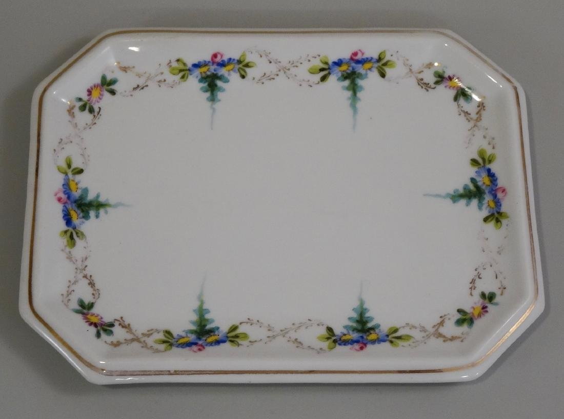Antique Hand Painted Porcelain Tray