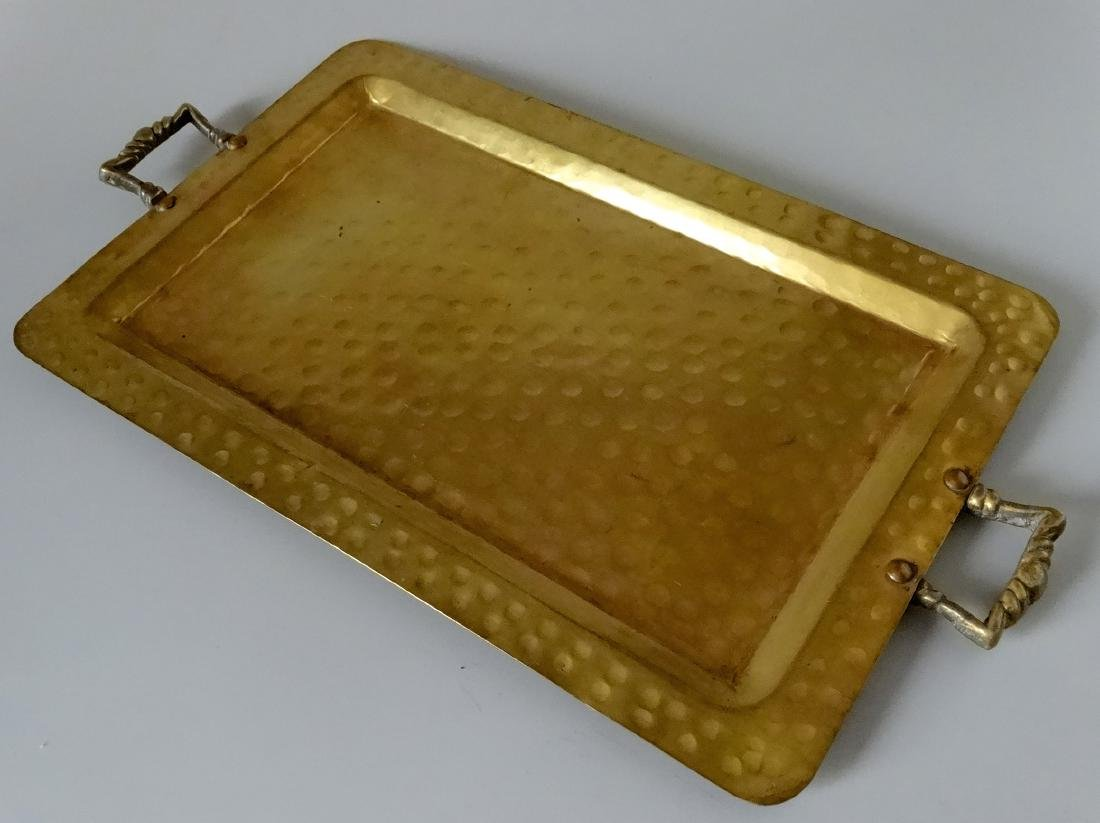 Antique Russian Empire Brass Tray Moscow