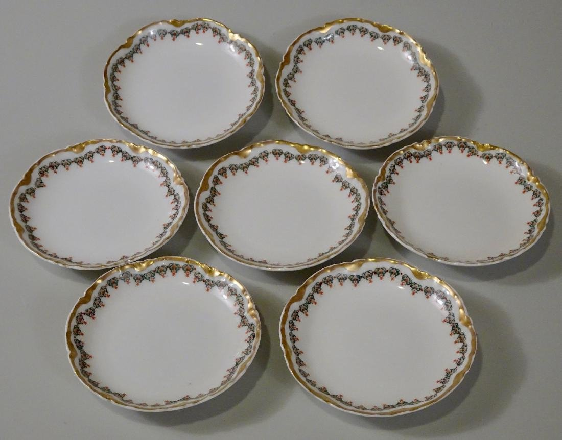 Antique Haviland Limoges Porcelain Butter Pat Plates