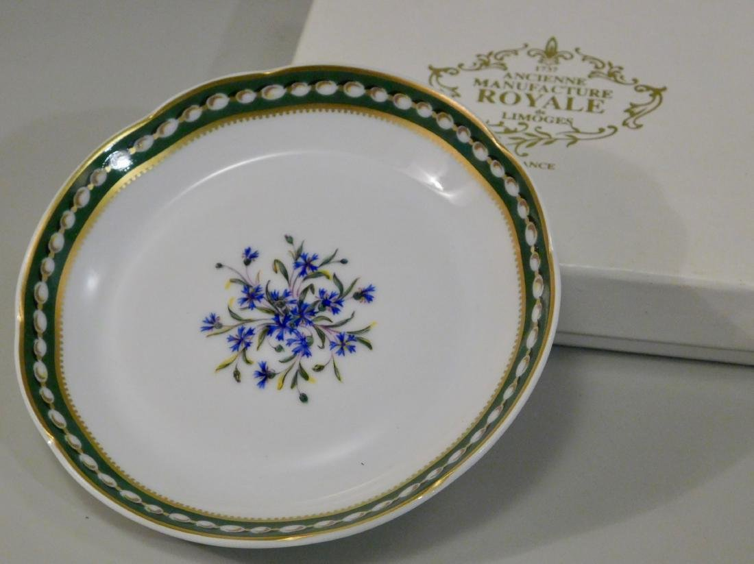 French Versailles Limoges Porcelain Soap Dish Boxed