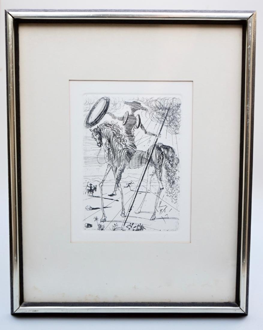 Salvador Dali Cervantes Signed Framed Print