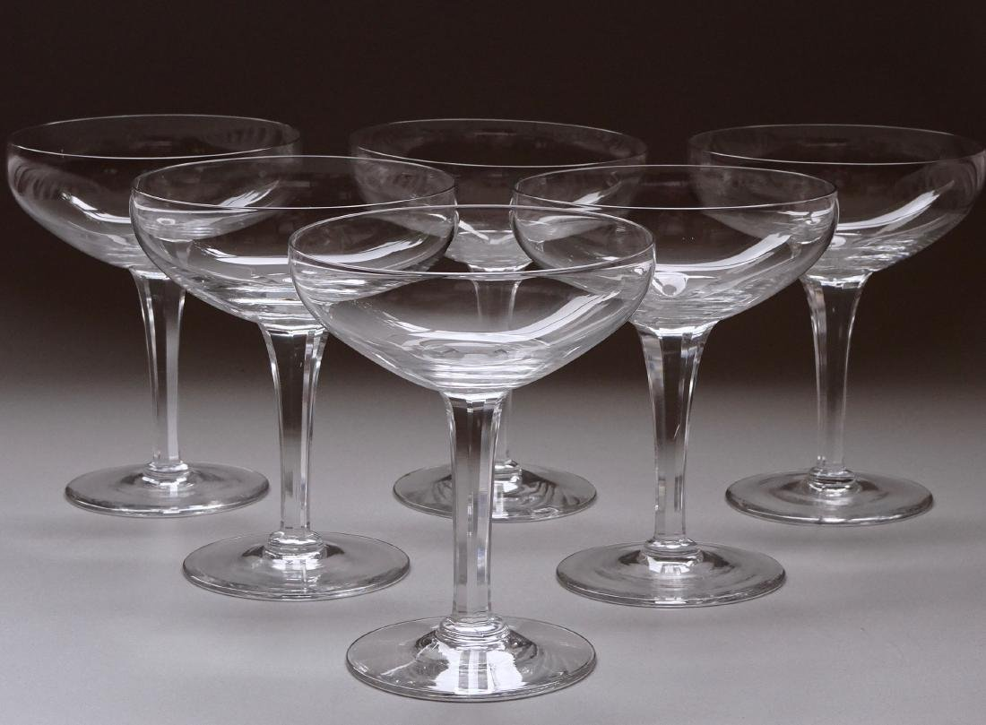 Modern Cocktail Glass Coupe Paneled Stem Champagne