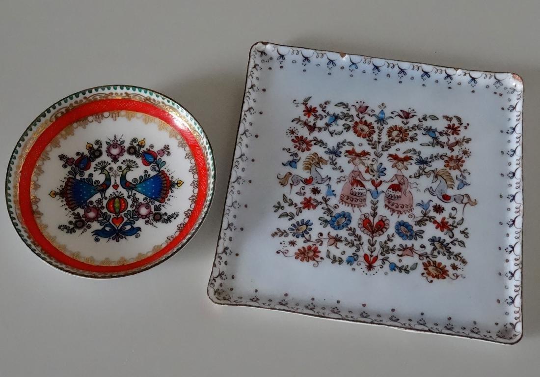 Mid Century Arta Miniature Enamel Hand Painted Plaque