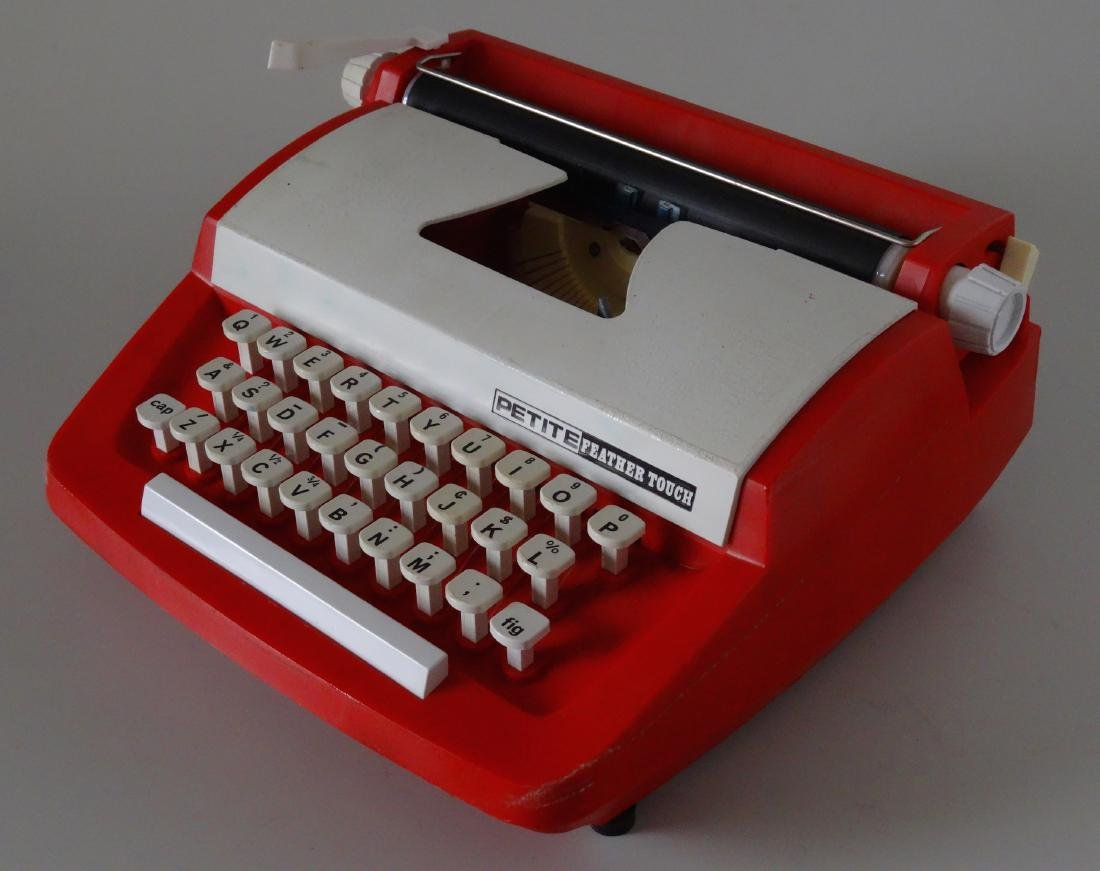 Vintage Petite English Mid Century Toy Typewriter
