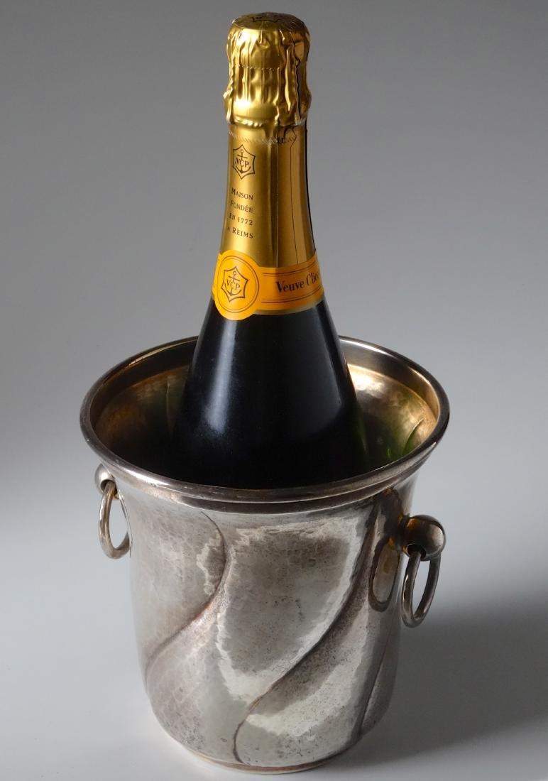 Italian Designer Silver Plate Champagne Ice Bucket Wine