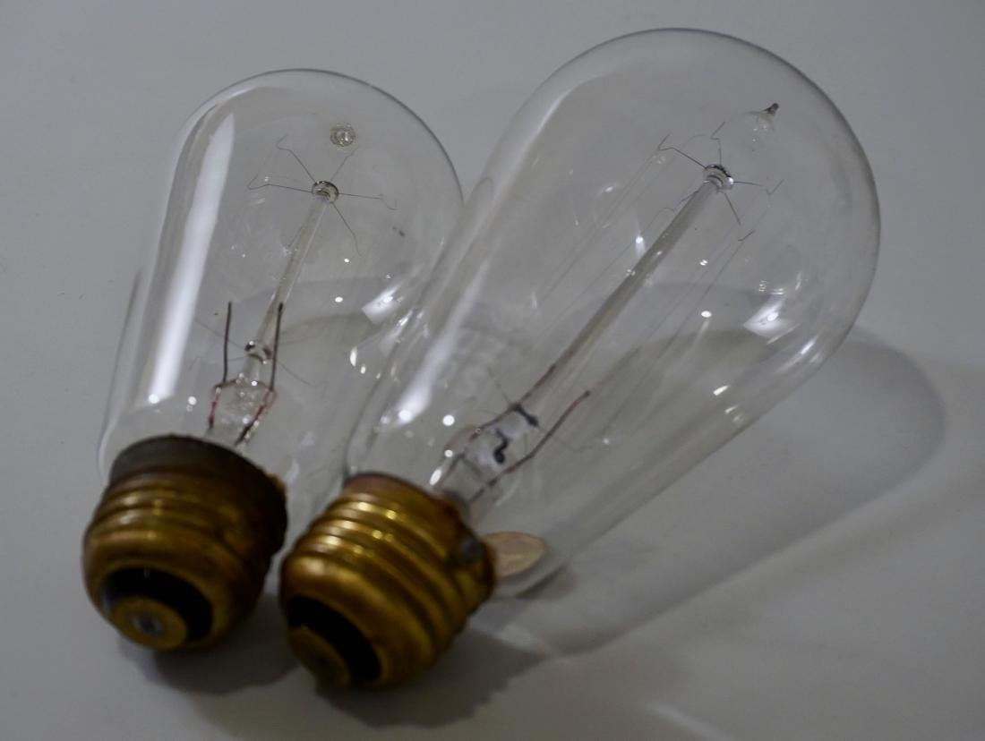 Antique Original Edison Mazda Electric Bulb Lot of 2