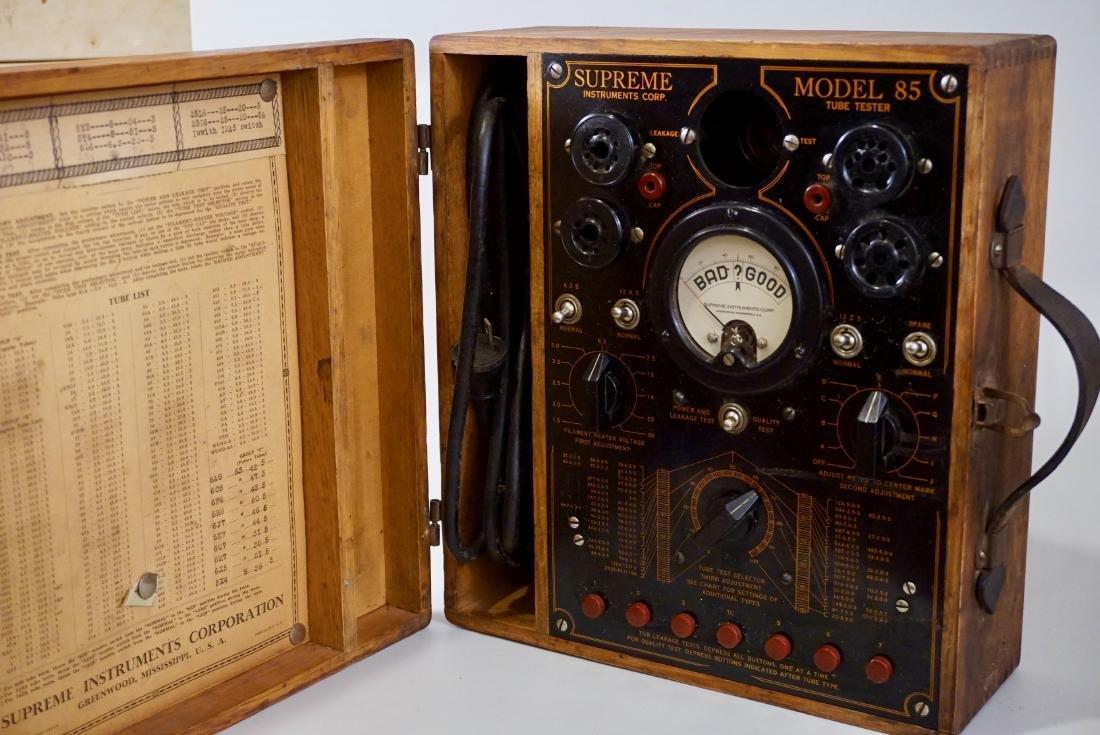 Vintage Radio Tube Tester Supreme Instruments Model 85