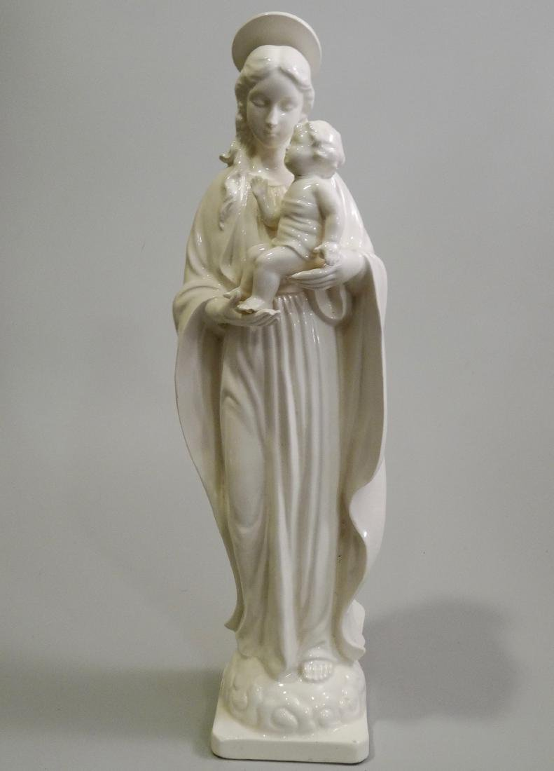Madonna and Child Large Blanc De Chine White Ceramic