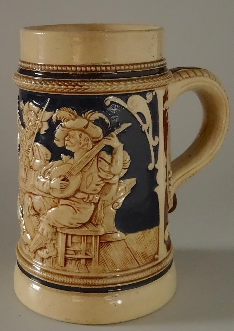 German Renaissance Majolica Mug Beer Stein Pen Holder