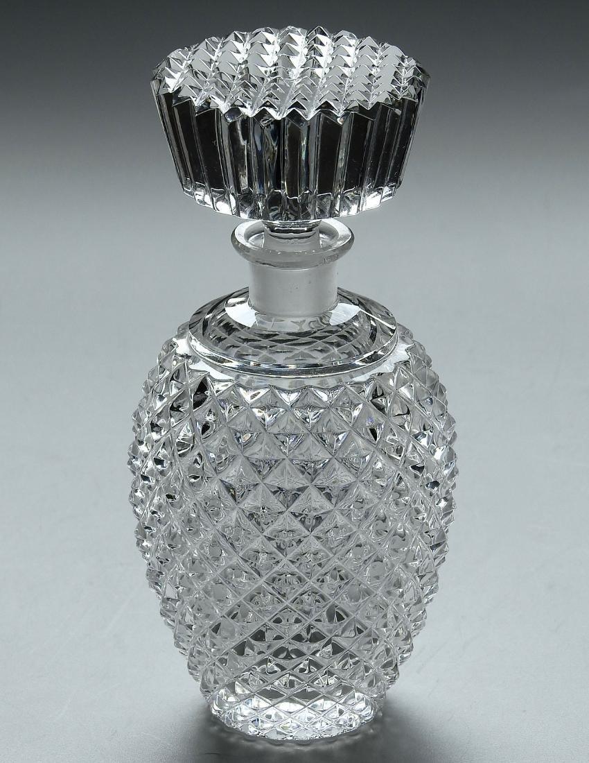 Vintage Decanter Bottle Unusually Large Stopper