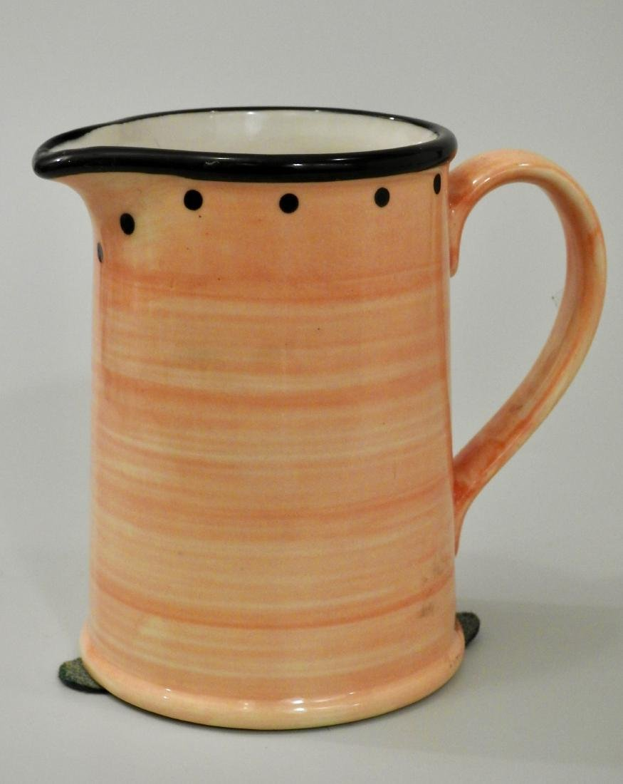 English Yellow Ulster Ceramics Milk Jug Small Pitcher