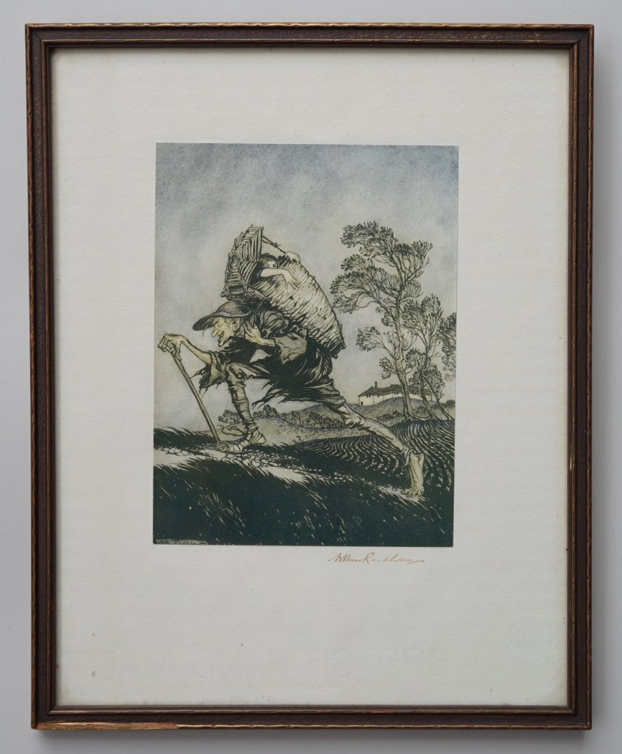 Arthur Rackham Illustrations Grimm Signed Print Framed