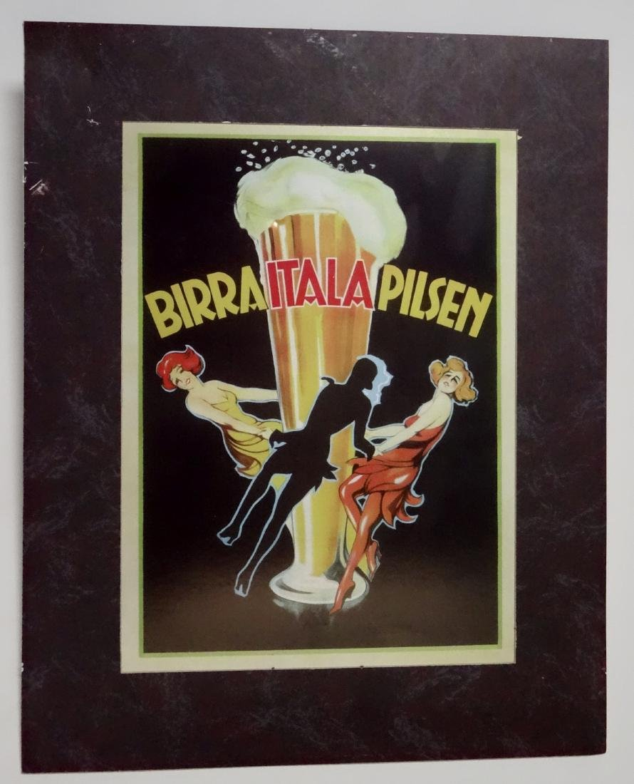 Italian Beer Birra Itala Plisen Restaurant Poster