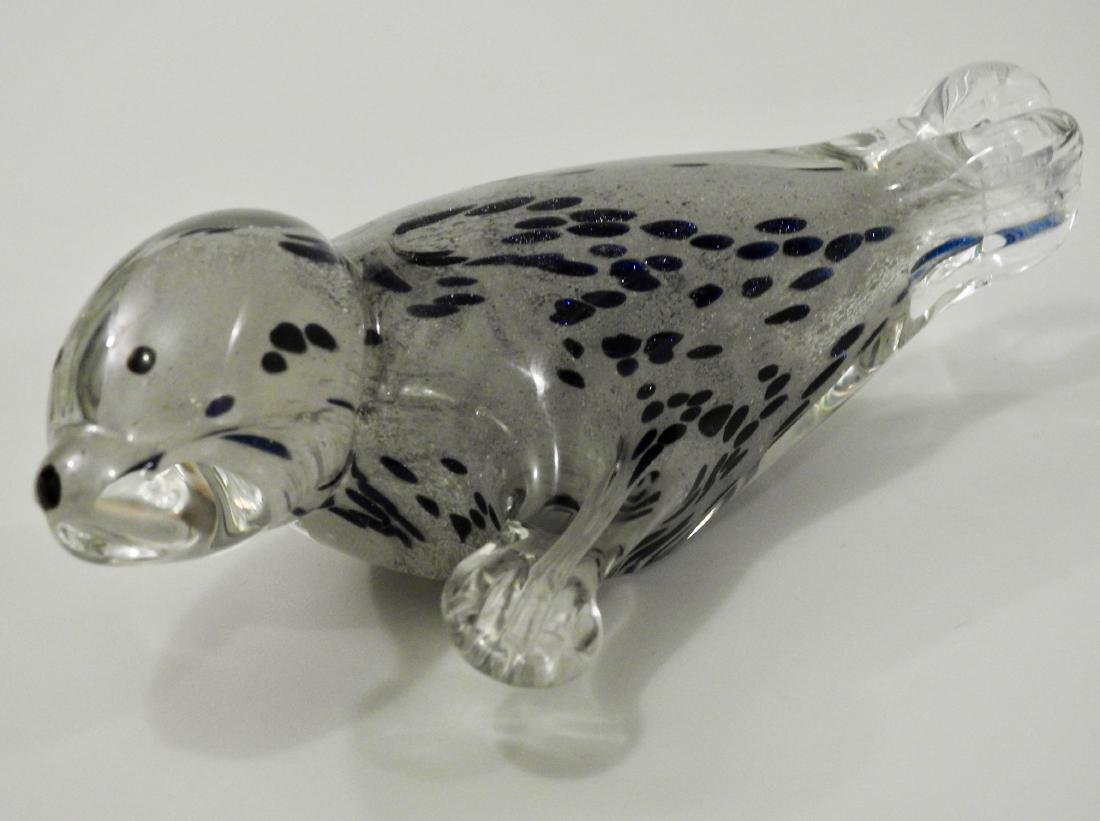 Art Glass Sea Otter Figurine