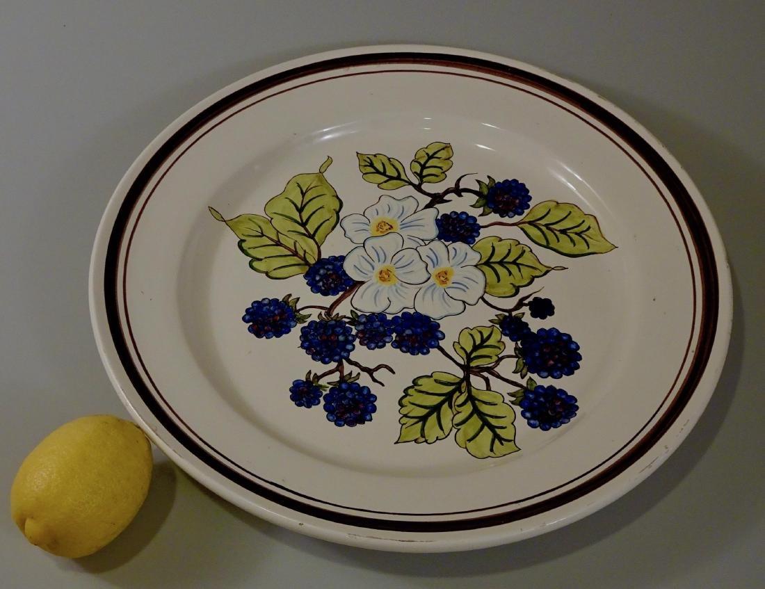 Italian Hand Painted Blackberry Blossom Platter Large