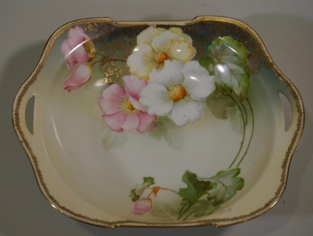 RS Silesia Marked Porcelain Shallow Bowl Hand Painted