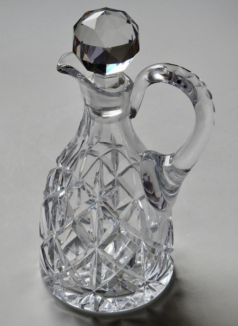 Crystal Cut Glass Pouring Decanter With Handle