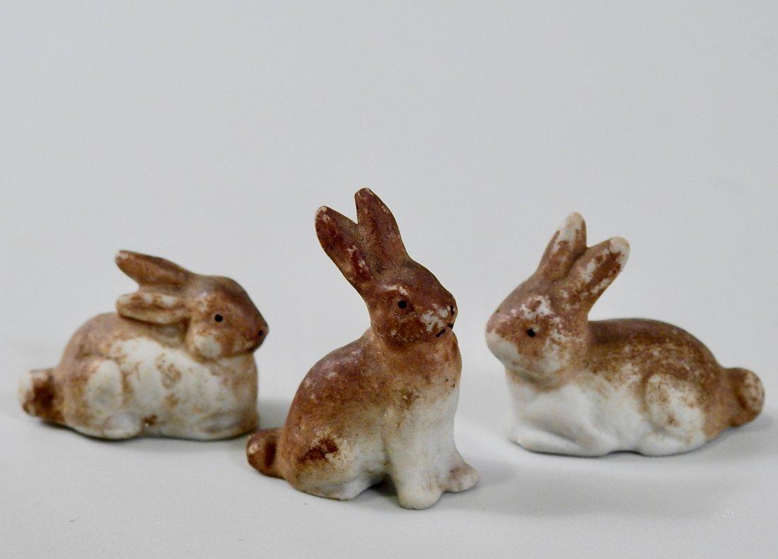Antique Bisque Porcelain Miniature Easter Bunny