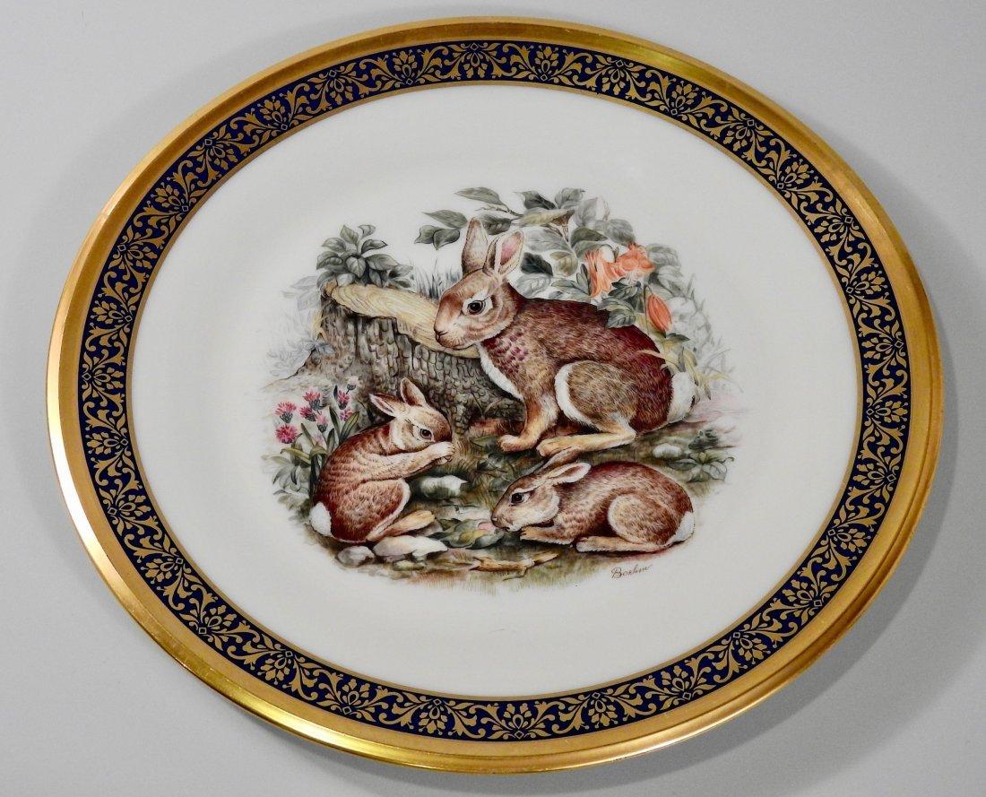 Lenox Boehm Bunny Woodland Rabbit Cabinet Plate