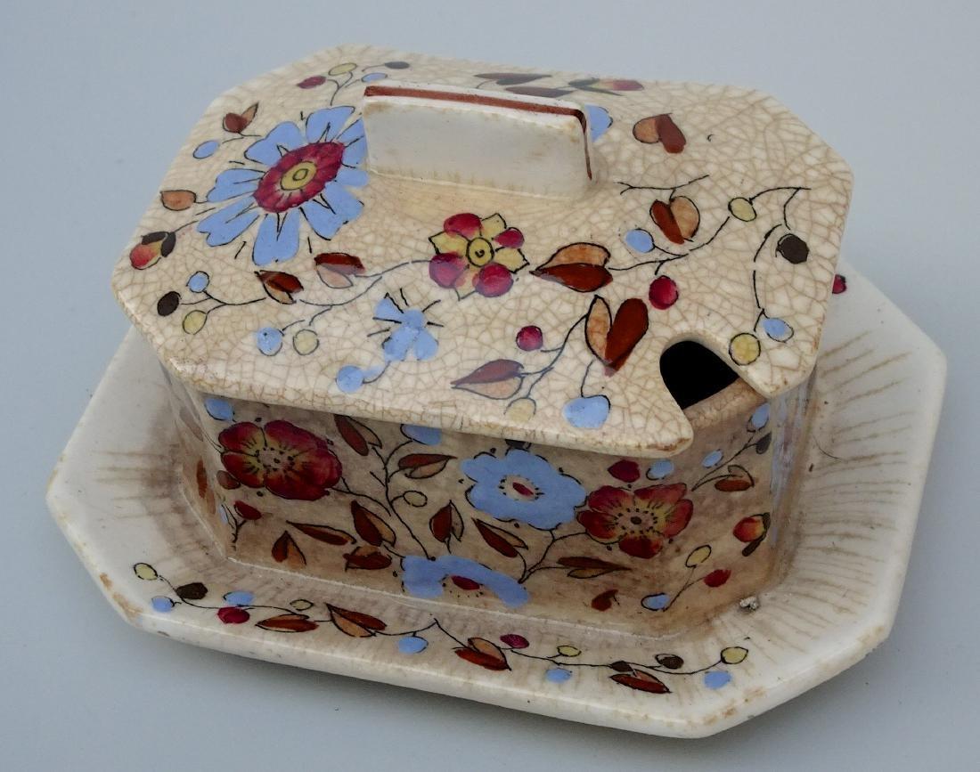 Antique 1880 Ridgways Persia Pattern Mustard Pot