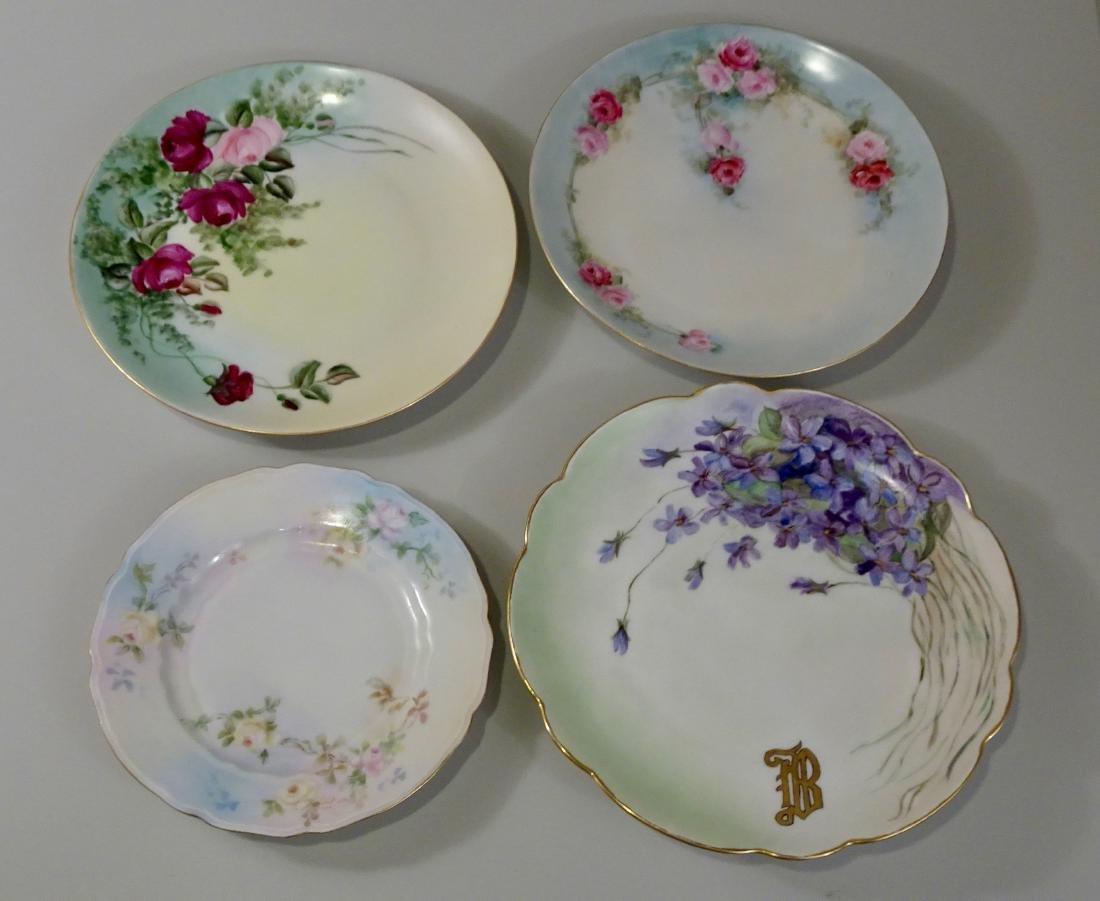 Antique Bavaria German Porcelain Hand Painted Plate Lot