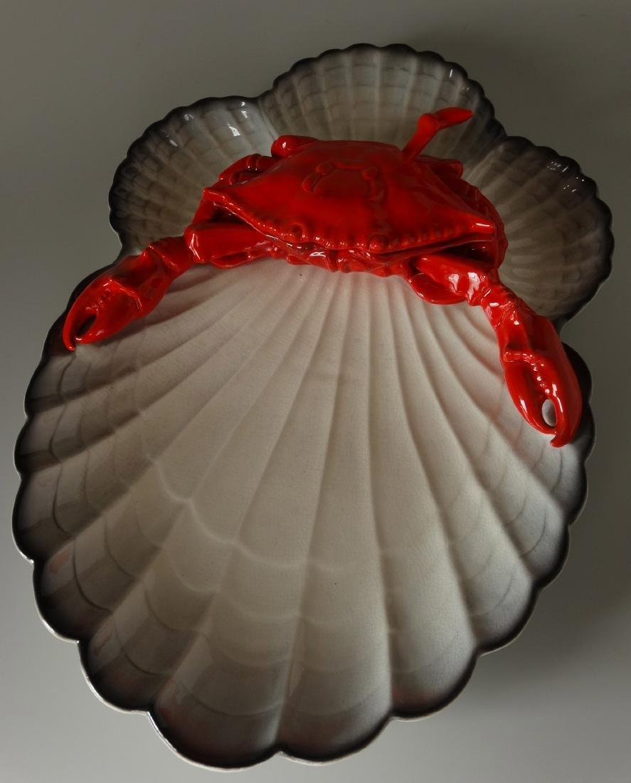Vintage Seafood Crab Large Serving Dish USA China