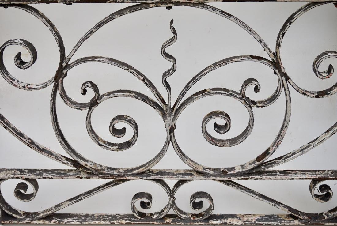 Antique Garden Gate Shabby Painted Wrought Iron