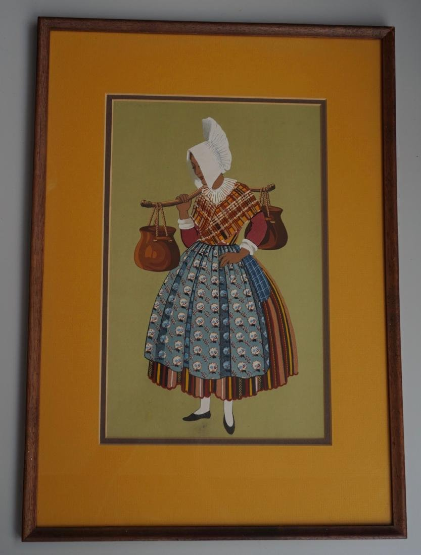 Folk Costume Color Print Framed
