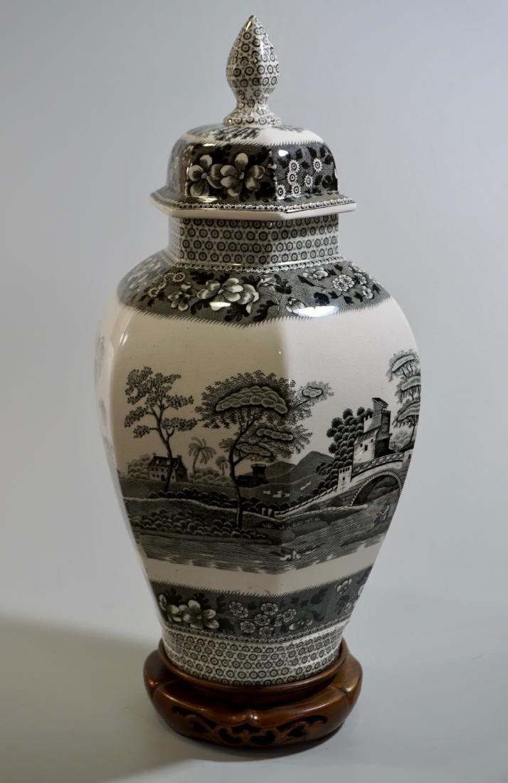 Antique Copeland Spodes Transfer Ware Urn Jar Vase