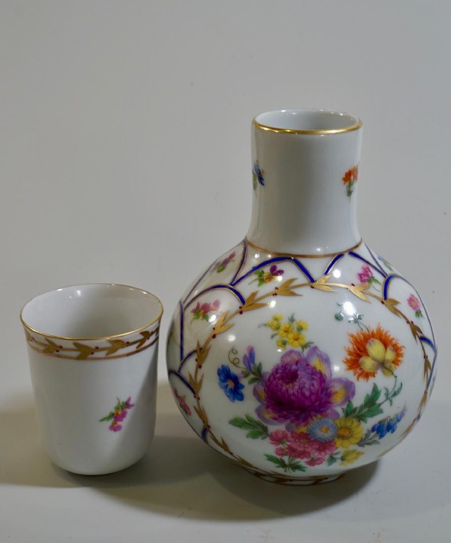 Vintage Italian Hand Painted Porcelain Bedside Water