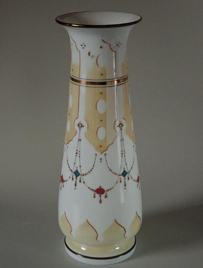 Antique Renaissance Revival Bristol Painted Vase