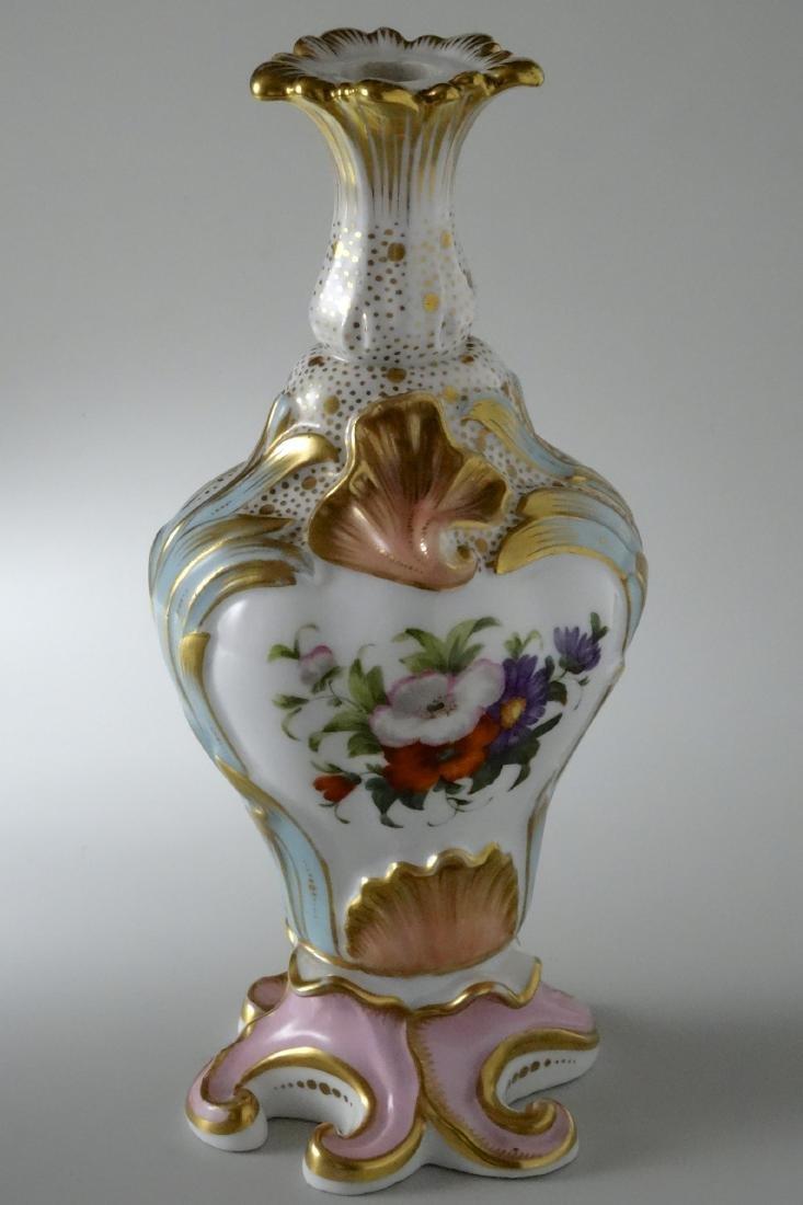 Very Fine Old Paris Porcelain Hand Painted Flacon Vase