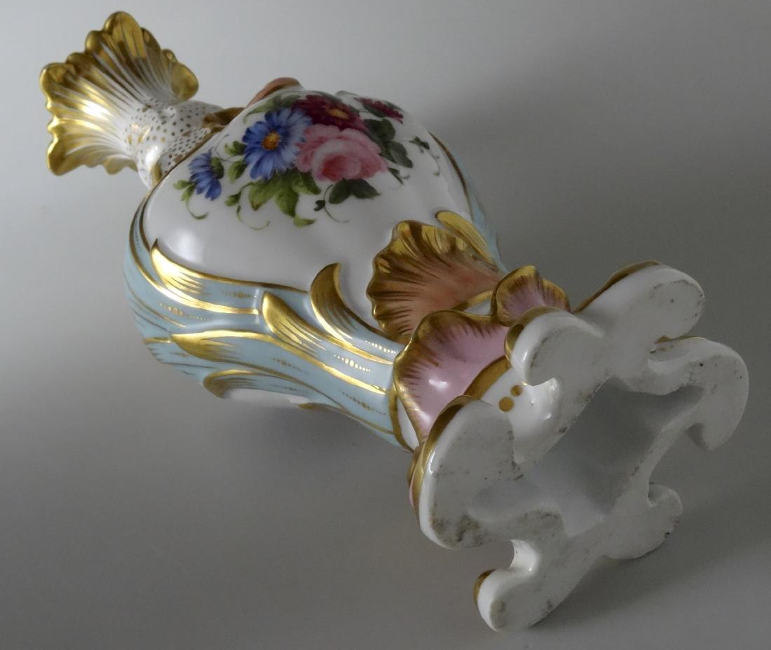 Very Fine Old Paris Porcelain Hand Painted Flacon Vase - 6