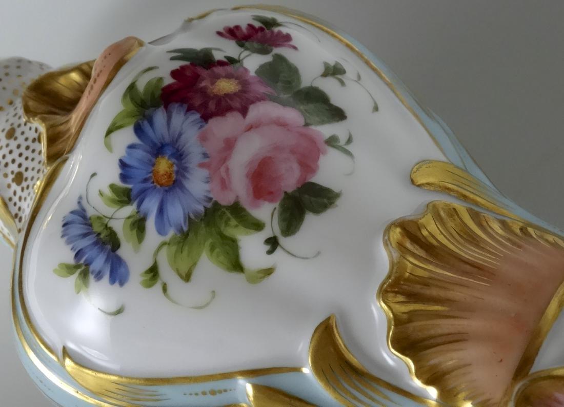 Very Fine Old Paris Porcelain Hand Painted Flacon Vase - 7