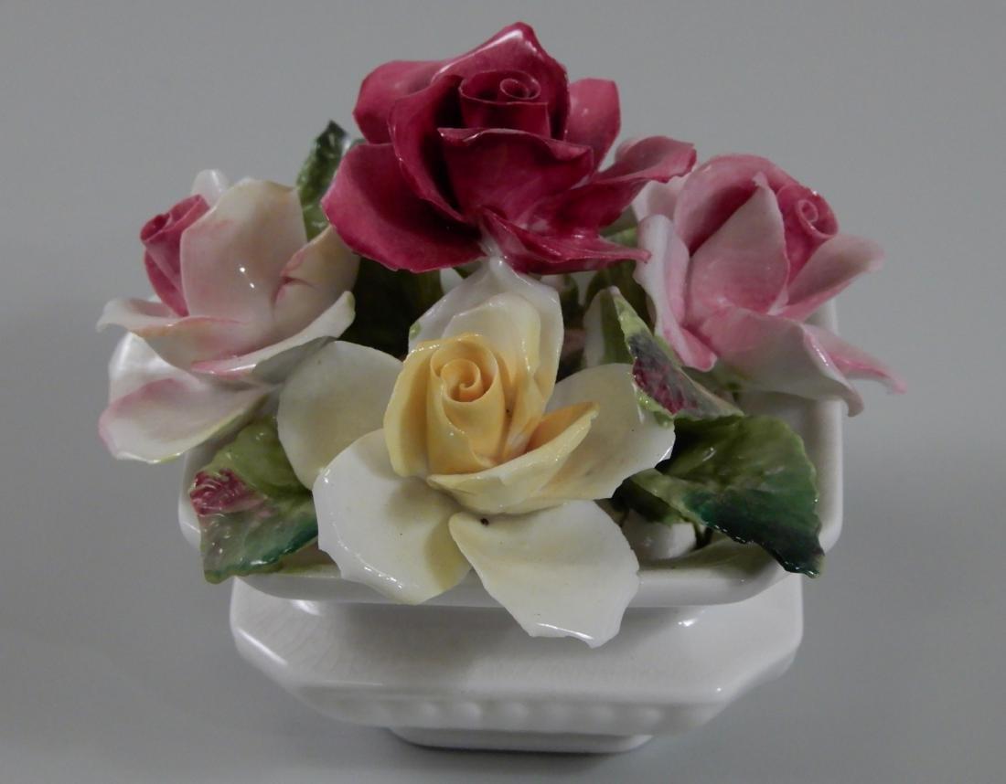 English Fine Bone China Flowers Decoration in Square