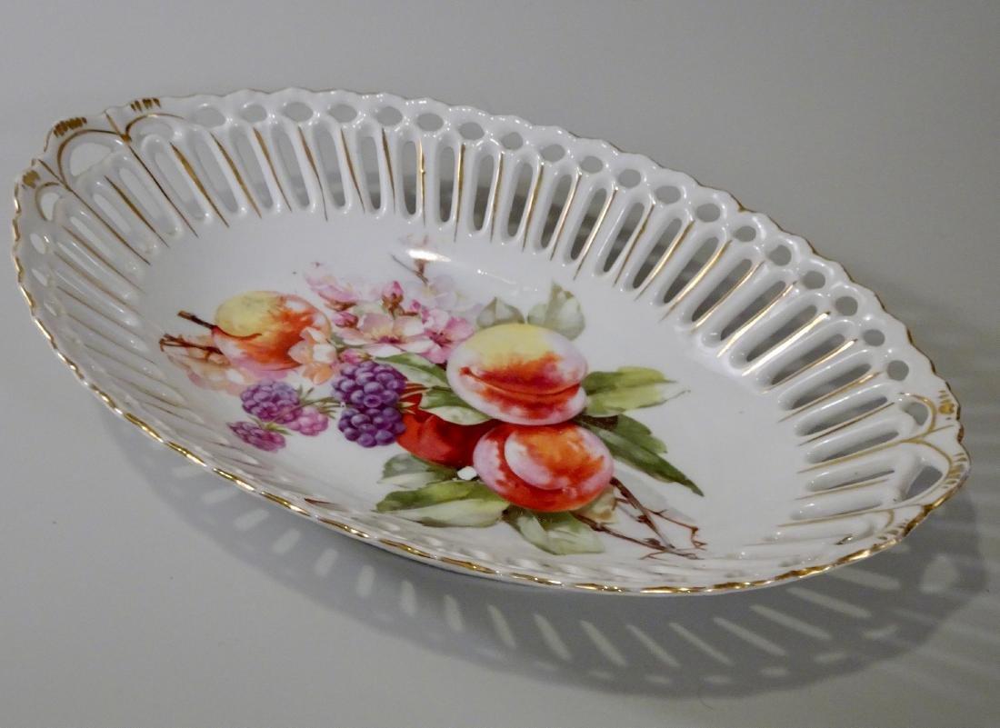 RW Bavaria Porcelain Reticulated Dish Bread Tray Rulolf