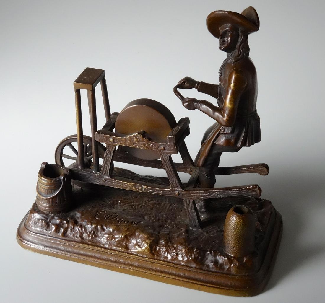 Drouet Bronze Sharpener Figure