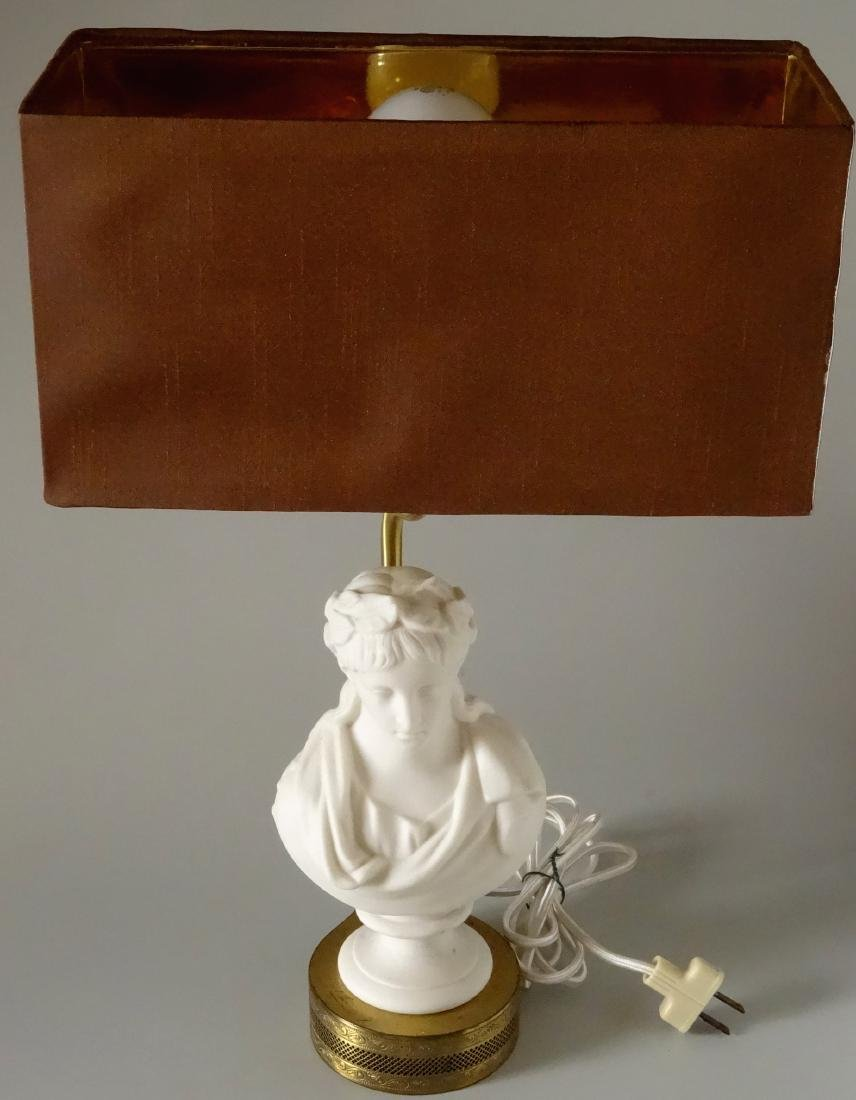Antique Parian Roman Triumphator Bust As a Lamp