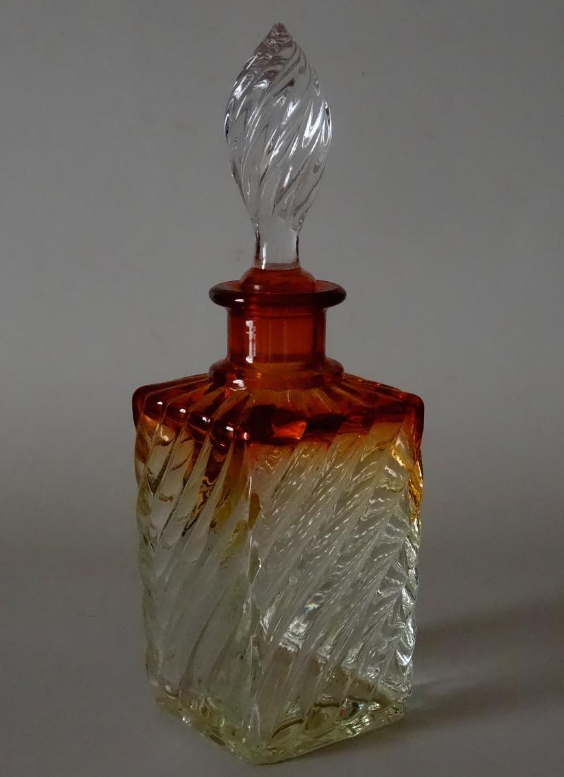 Baccarat Amberina French Antique Perfume Bottle Rare
