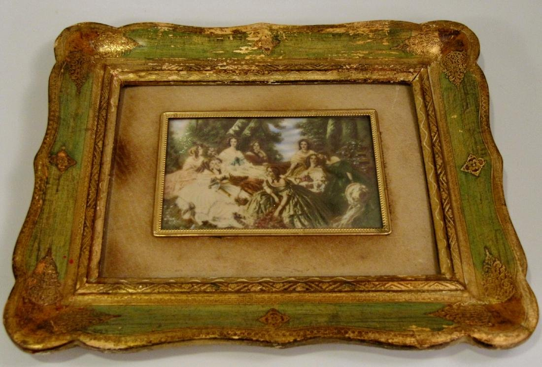 Italian Miniature Painting 19th Century Maidens Group