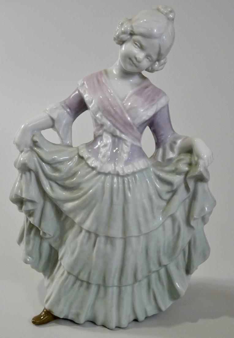 Gebrueder Heubach Girl Figurine Large German Porcelain