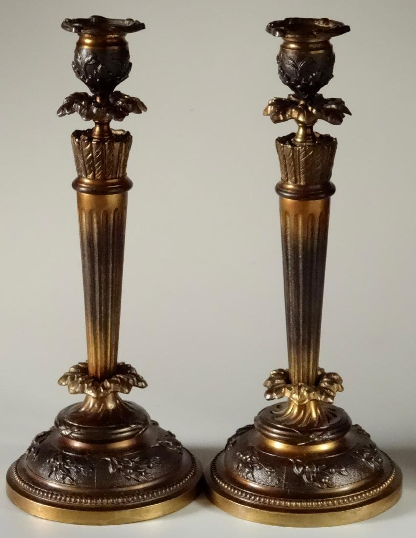 Louis XVI Style Candlesticks Original Bobeches