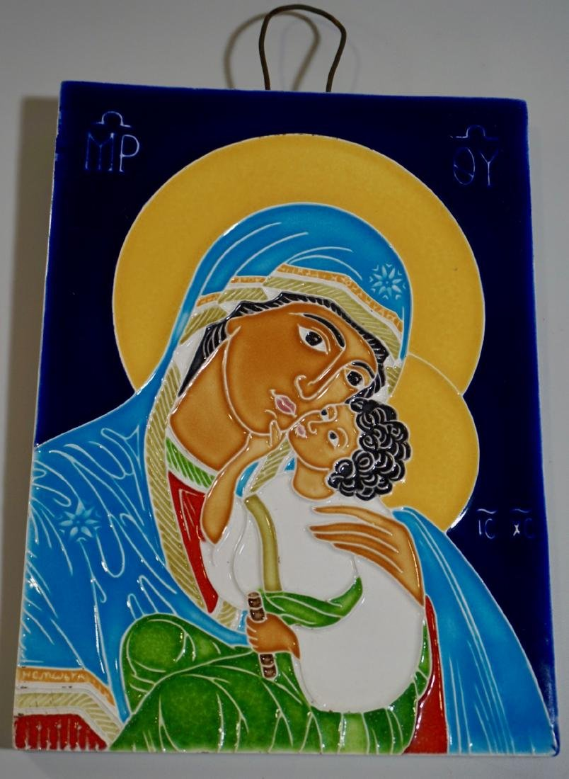 Orthodox Christian Mother of God Ceramic Icon Tile