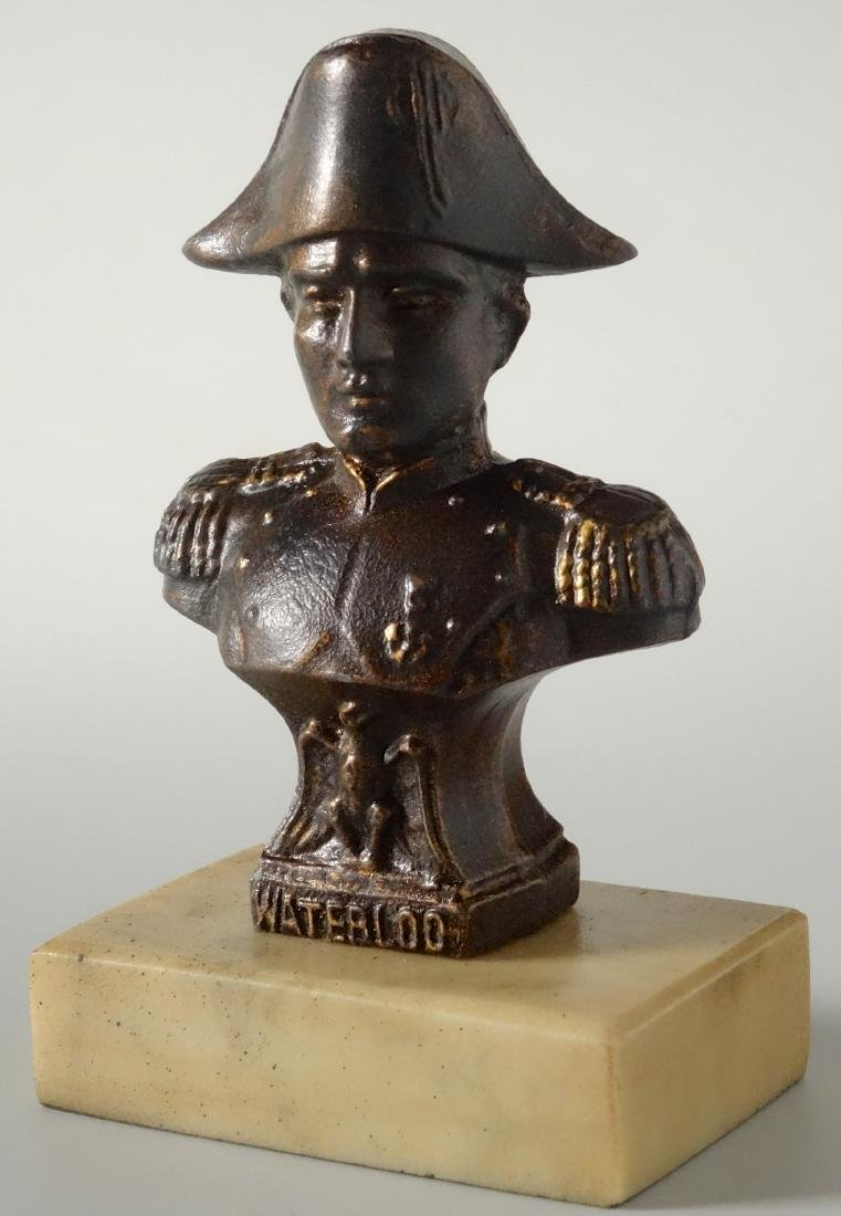 Vintage Spelter Napoleon Bust on Marble Base