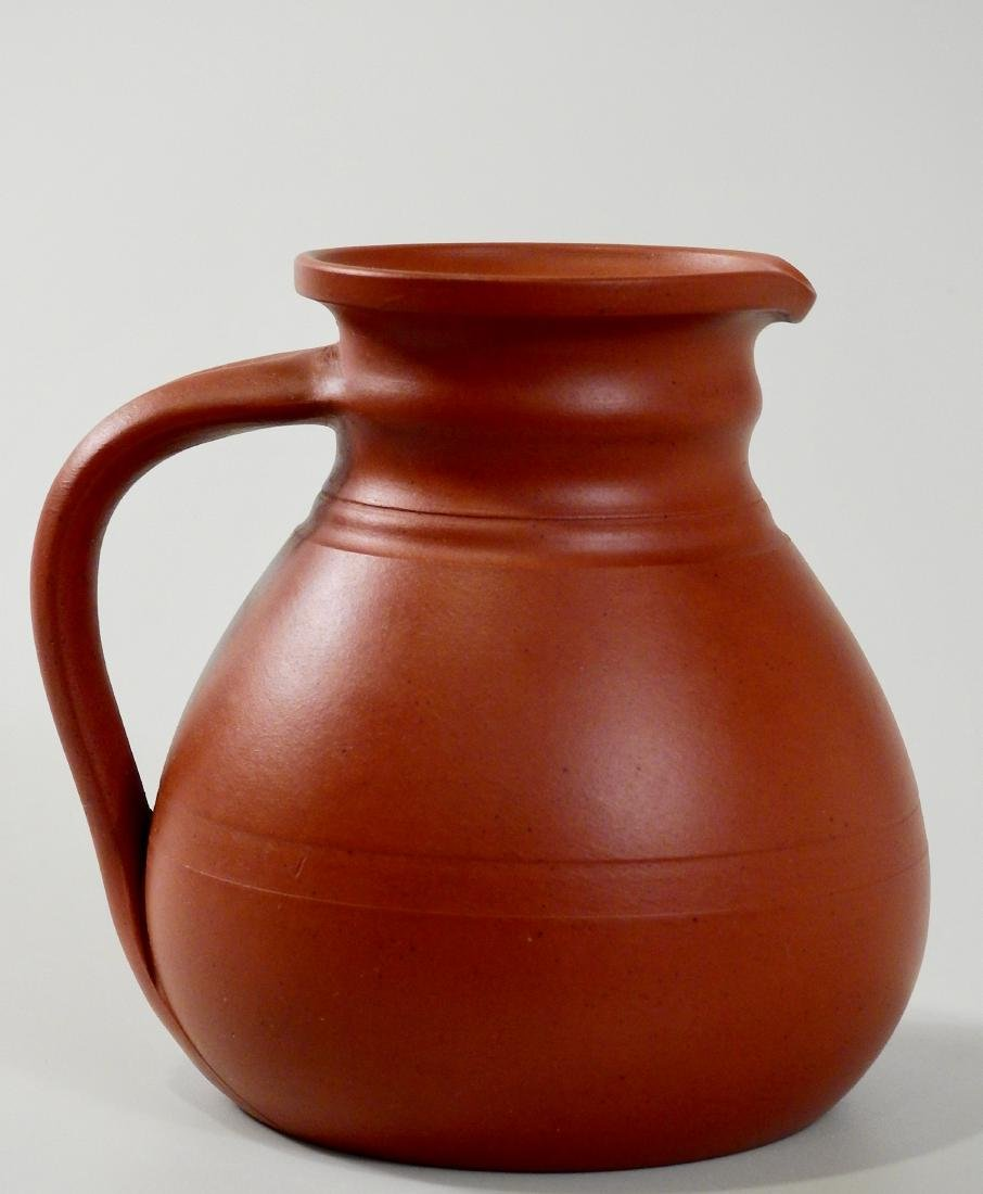Antique English Redware Pitcher Pratt & Co Jug