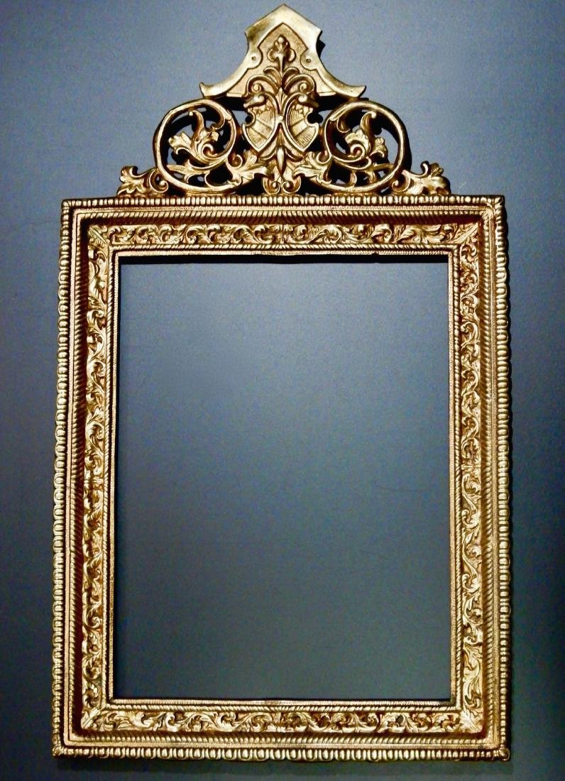 Antique Bronze Frame for Large Porcelain Plaque