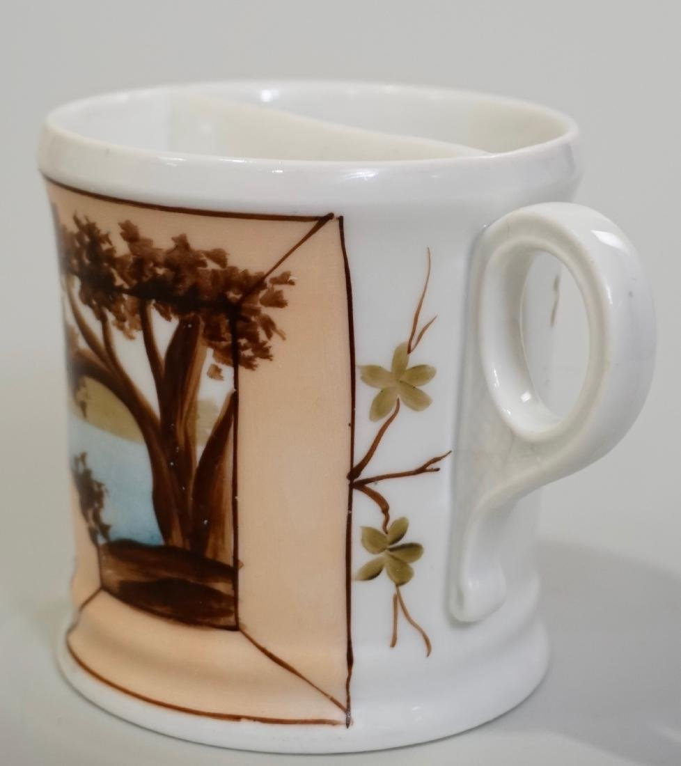 Antique Victorian Porcelain Shaving Mug Hand Painted