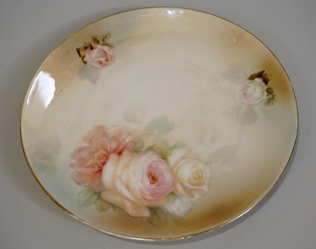 RS Germany Porcelain Roses Plate