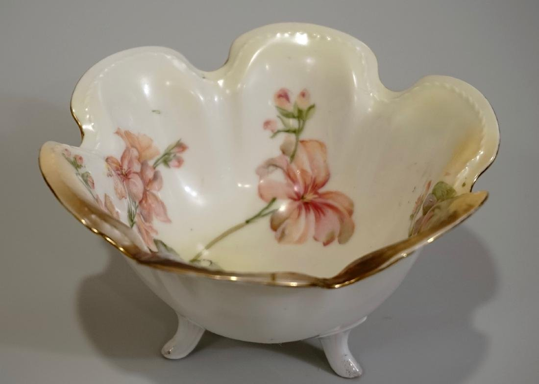 RS Germany Porcelain Footed Bowl Handpainted