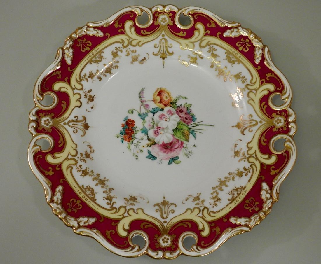Antique Old Paris Hand Painted Porcelain Plate